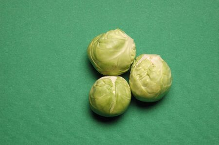 Three Brussels Sprouts, Close Up