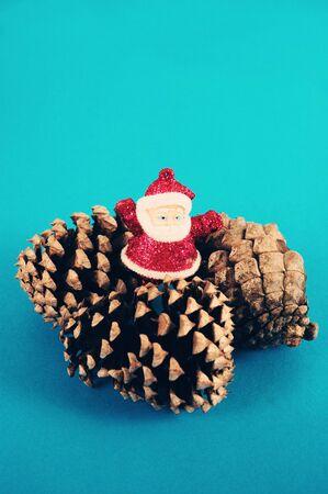 Christmas Ornaments depicting Santa Claus Mockup