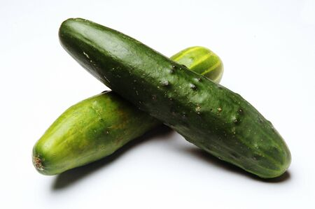Cucumbers, Close Up on white background
