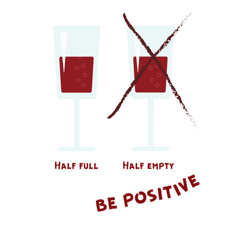 Two wineglasses clink.  Be positive