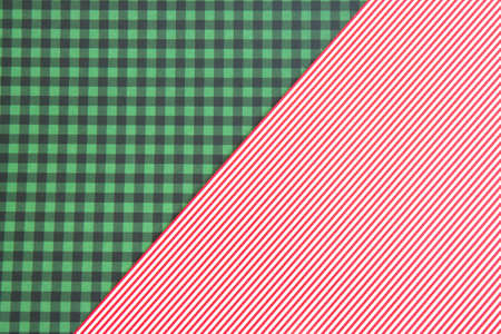 Original background. Green checkered and dusty pink background. Background for Christmas card Stockfoto