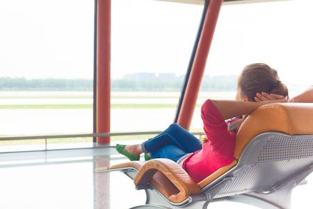 gente aeropuerto: remoto playas tropicales y pa�ses. concepto de viaje Foto de archivo