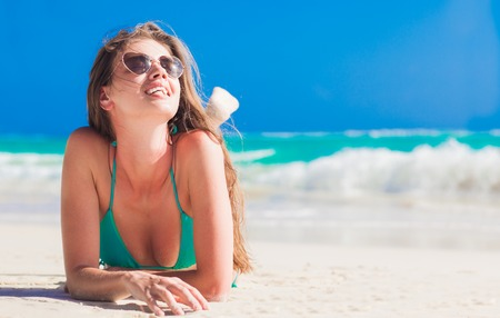 healthy people: remote tropical beaches and countries. travel concept