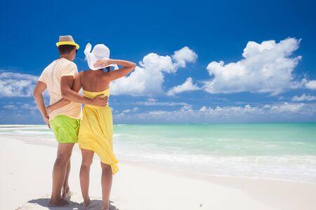 원격 열대 해변과 국가. 여행 컨셉