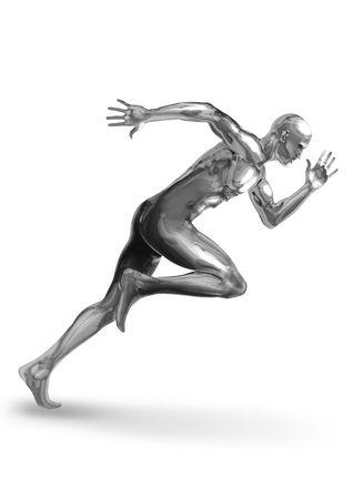 Eine Chromeman aus, um einen schnellen start
