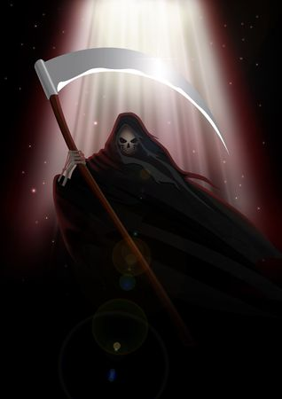 scythe: Imagen stock de muerte