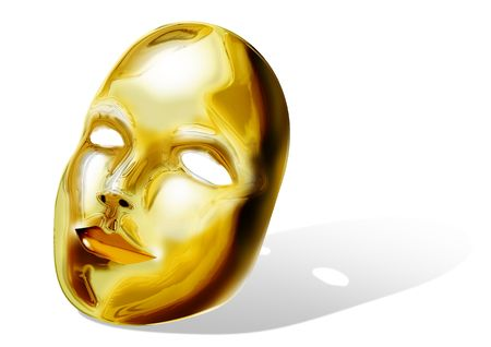 hypocrite: Stock illustration of golden mask Stock Photo