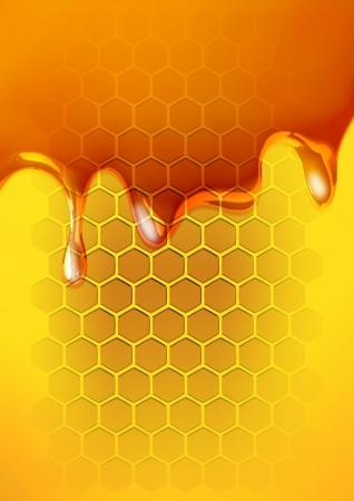 honey liquid: Stock illustration of melted honey