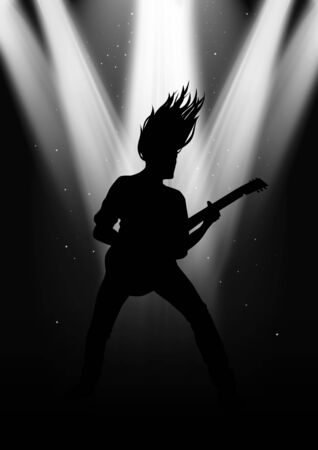 rocker: Stock image of a male figure playing guitar