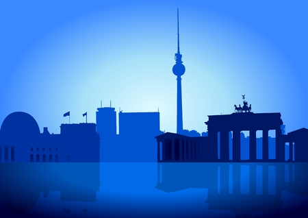 An illustration of Berlin skyline