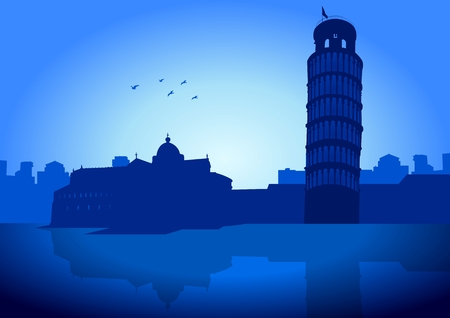 Stock illustration of Leaning tower of Pisa - Italy Stock Vector - 7926696