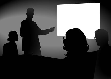 business people meeting: Stock image of people having a meeting with projector