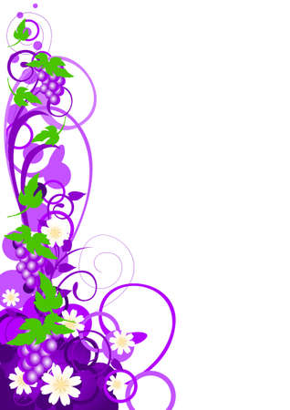 invitation background: Flavor Variant_Grape Illustration