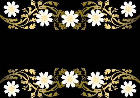 Stock Photo: Gold ornament with flowers Stock Vector - 8115033