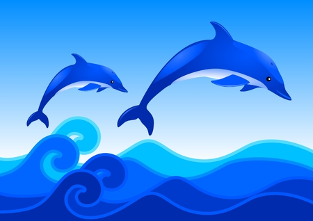 Dolphins Stock Vector - 8279806