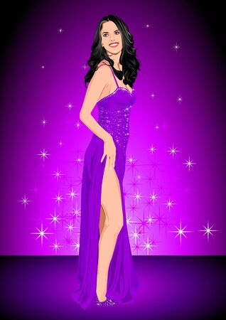 Glamour in Purple Vector