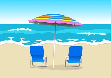 Two chairs on the beach Stock Vector - 8356108