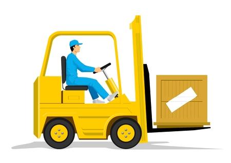 Forklift Stock Vector - 8356105