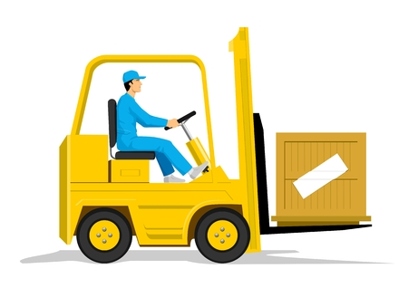warehouse storage: Forklift