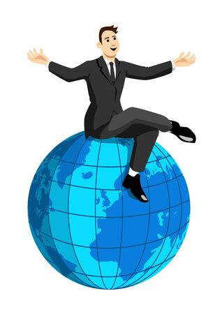 On Top Of The World Stock Vector - 8356112