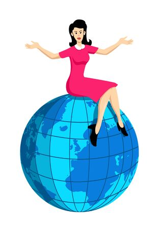On Top Of The World Stock Vector - 8356114