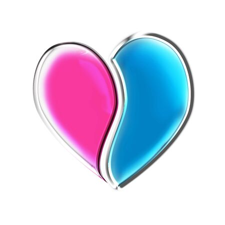 divided: Stock image of a divided heart