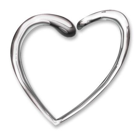 Illustration of liquid chrome heart  illustration