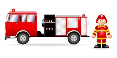 Figura icónica de un bombero Ilustración de vector