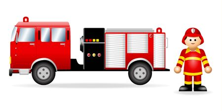 Iconic Figure of a Fireman Stock Vector - 8411781
