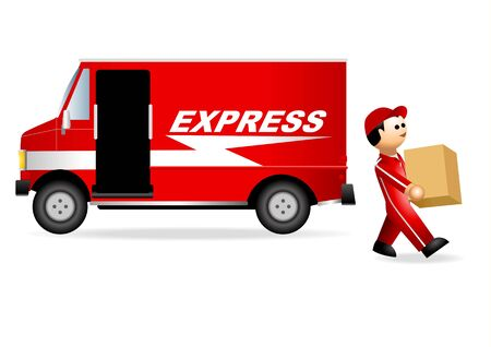 package delivery: Iconic Figure of Package Service Illustration