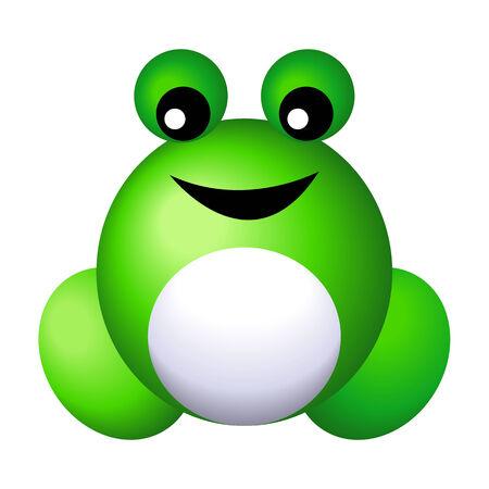 kiddies: Ilustraci�n de ranas ic�nica Vectores