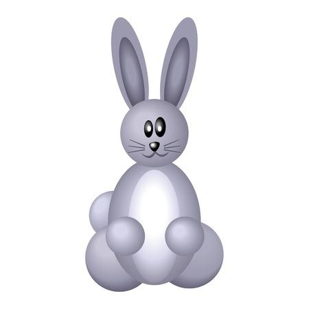 kiddies: Ilustraci�n vectorial de conejo ic�nica