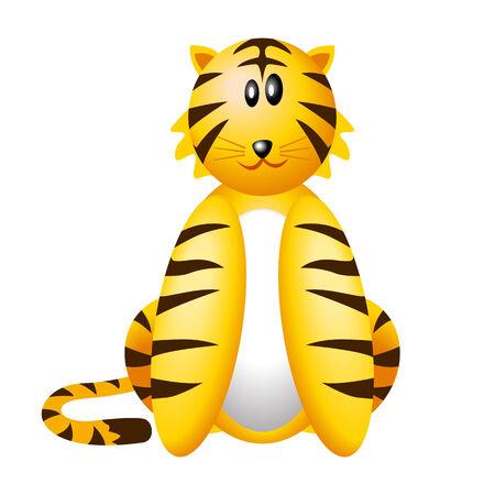 kiddies: Ilustraci�n vectorial de tigre ic�nica