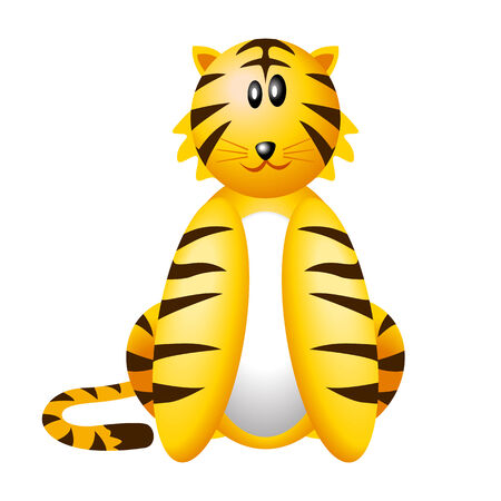 kiddies: Vector illustration of iconic tiger
