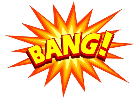 bang: Illustration of a comic explosion Illustration