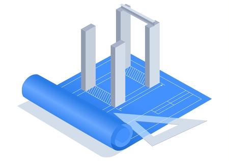 Blue Print Stock Vector - 8561237
