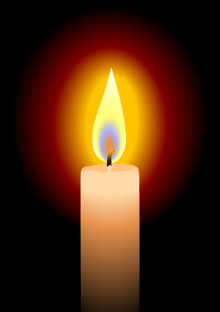 Vector illustration of a candle Vector