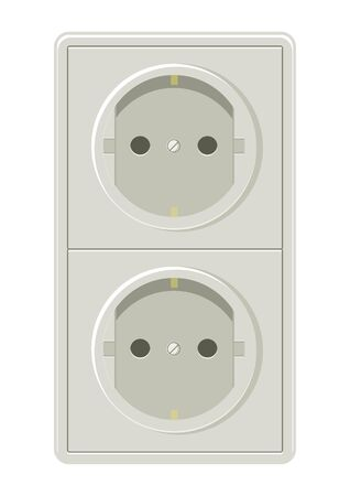 mounting: Vector illustration of electrical plug Illustration