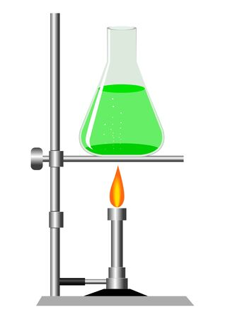 green chemistry: Stock vector of laboratory equipment Illustration