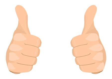 thumb's up: Stock vector of two thumbs up