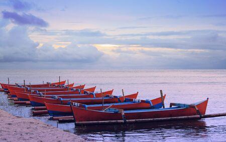 Stock photo of traditional fishing boats photo