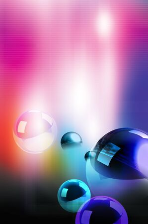 shinning: Abstract illustration of spheres on colorful background Stock Photo