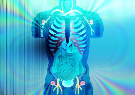 Abstract illustration of X-ray vision Stock Illustration - 8644549