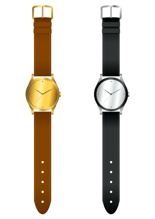 wristwatch: Vector illustration of wrist watch Illustration