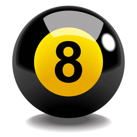 billiard ball: Stock vector of billiard ball number 8
