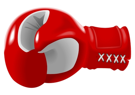 knocking: Vector illustration of red boxing glove