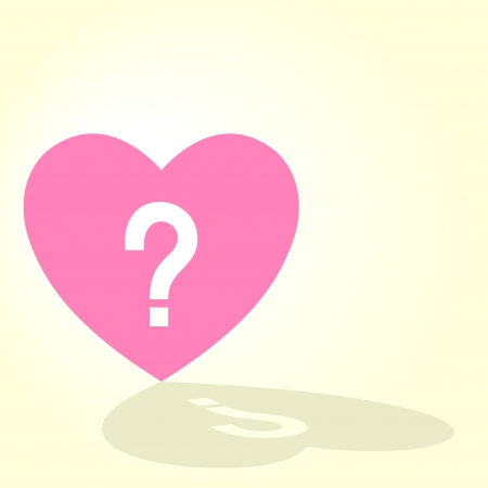 Vector illustration of a heart with question mark Stock Vector - 8861761