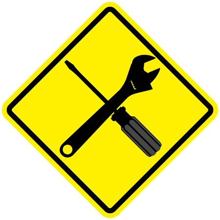 iconic: Iconic illustration of a wrench and screw driver Illustration