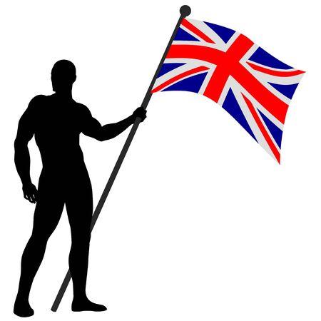 Vector illustration of a flag bearer Stock Vector - 9061600