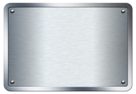 stainless: Stock image of a metal plate isolated on white background